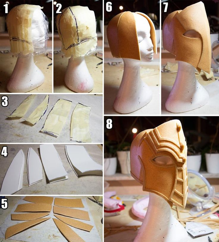 cosplay tutorial How to make a helmet out of worbla by Kamui Cosplay.