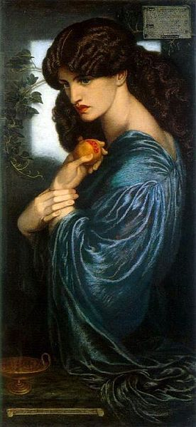 """Dante Gabriel Rossetti - """"Proserpine"""" 1874"""
