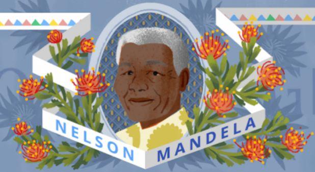 El #Doodle de #Google que recuerda a #Nelson #Mandela, Nobel de Paz que cumpliría 96 años. Estas son sus frases más representativas sobre la lucha contra el racismo. #Tecnología