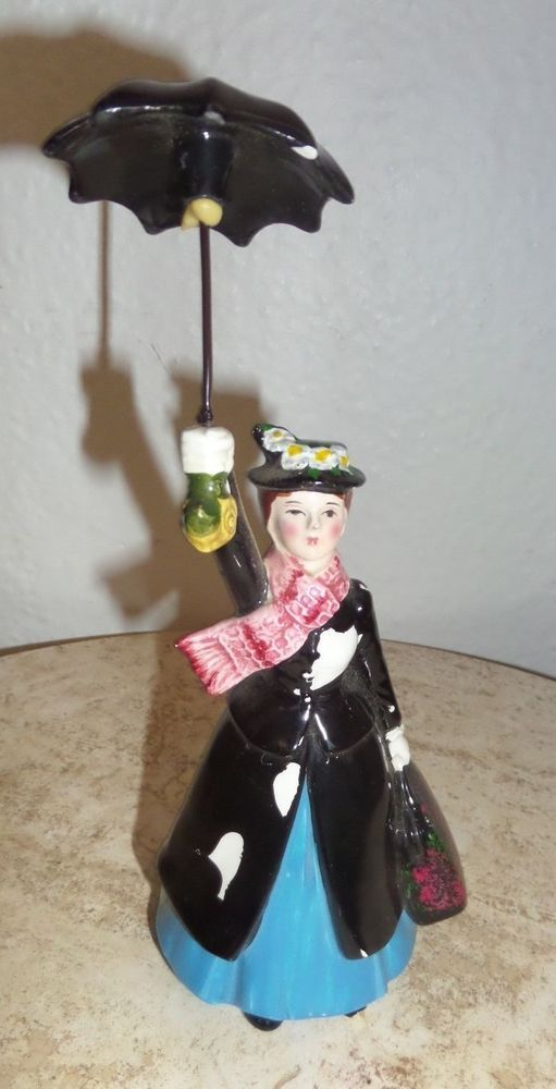 Disney Mary Poppins 8 5 Quot Figurine With Umbrella Ceramic