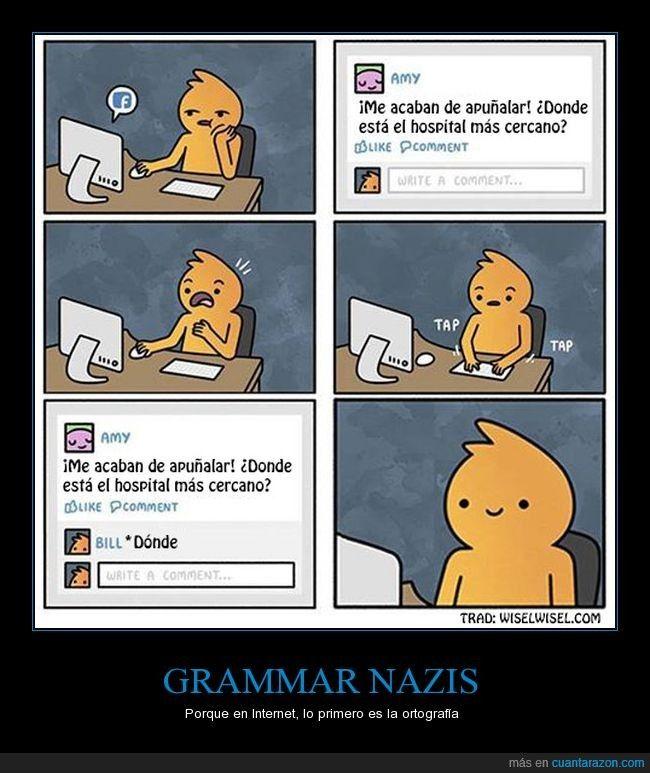 Sobre todo, NUNCA pidas ayuda a Internet - Porque en Internet, lo primero es la ortografía