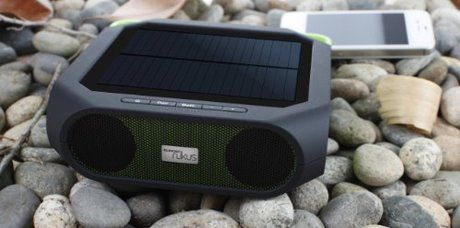 Eton Rugged Rukus All-Terrain Portable Solar Wireless Sound System. Want it? Own it? Add it to your profile on unioncy.com #gadgtes #tech #electronics