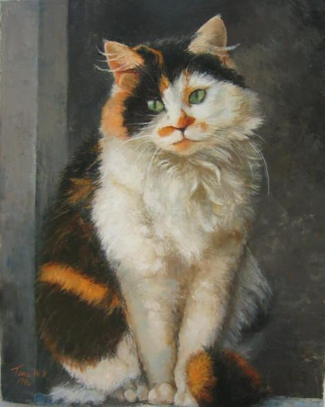 Art by Tina W. Nocera. #cats #art #cute