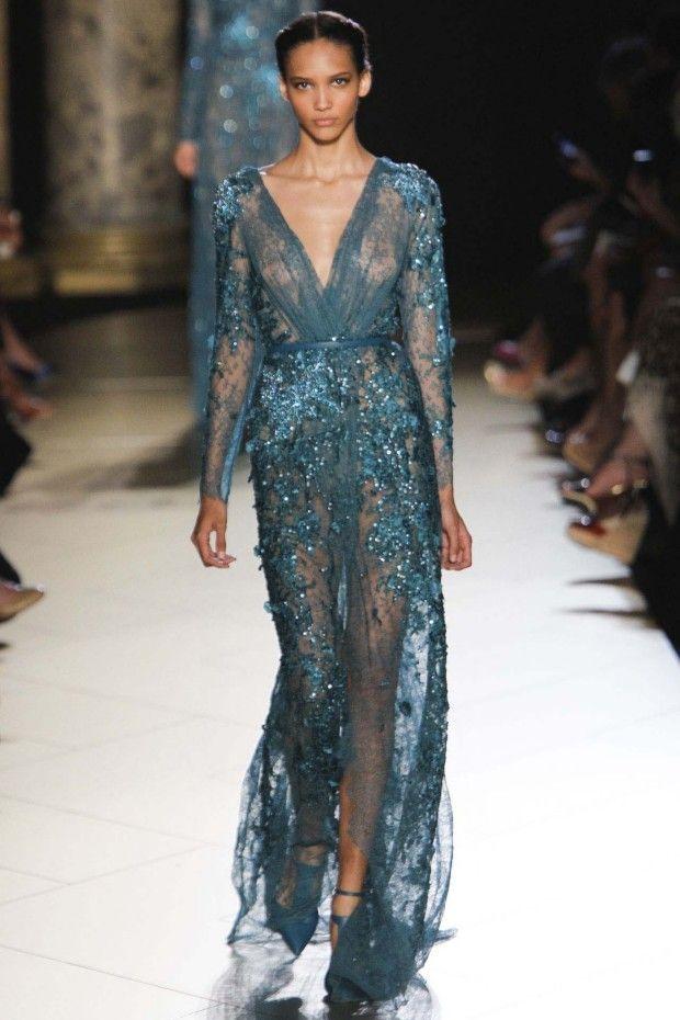 Haute Couture Autumn/Winter 2012/13 - Elie Saab || FireHosiery - Leaders in Legwear Fashion - firehosiery.com