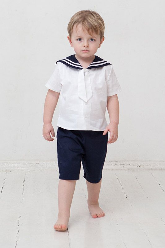 Baby boy sailor outfit baptism / christening baby boy by Graccia