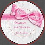 85o Damasco rosado del cumpleaños y falso arco Plato De Papel 22,86 Cm | Zazzle