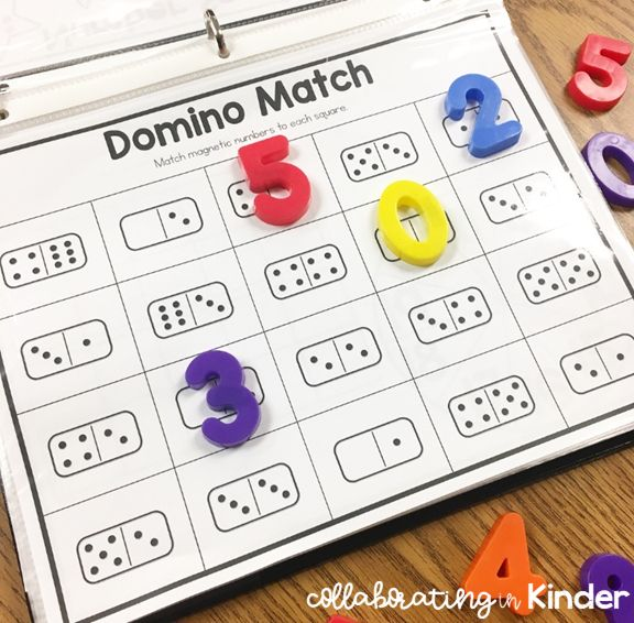 Number sense activities and subitizing