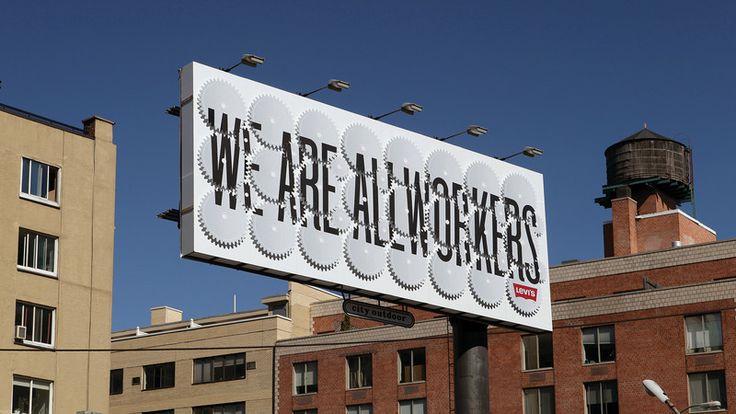Stefan Sagmeister's moving Levi's Billboard