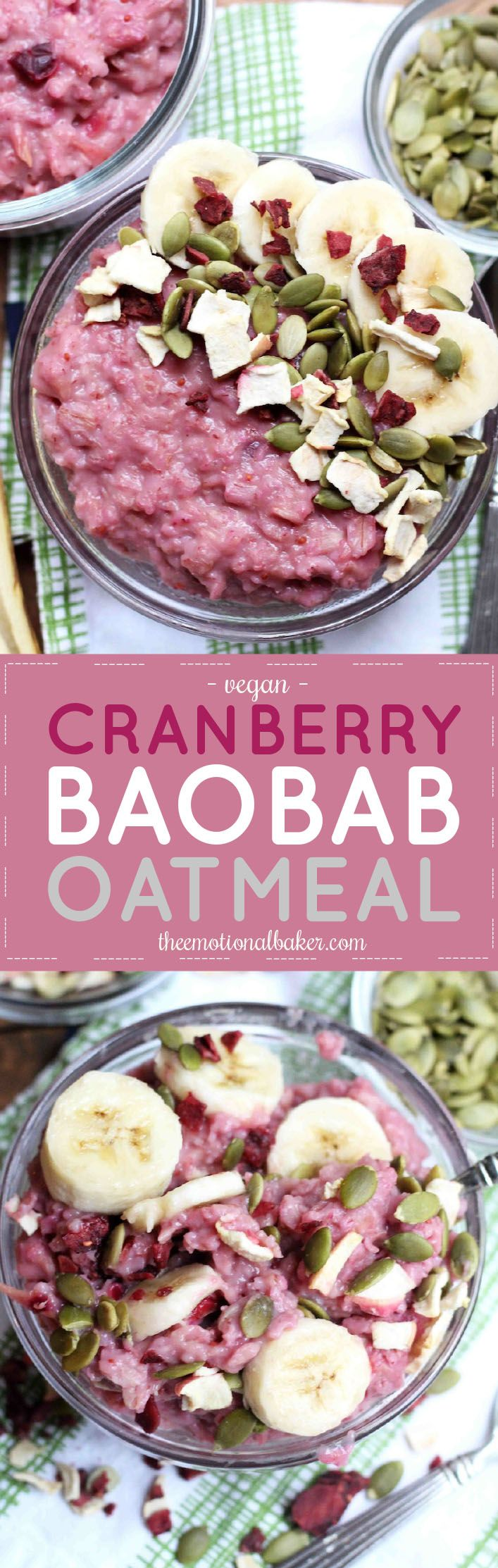 Wake up with a healthy bowl of cranberry oatmeal packed with antioxidants, potassium and fiber.