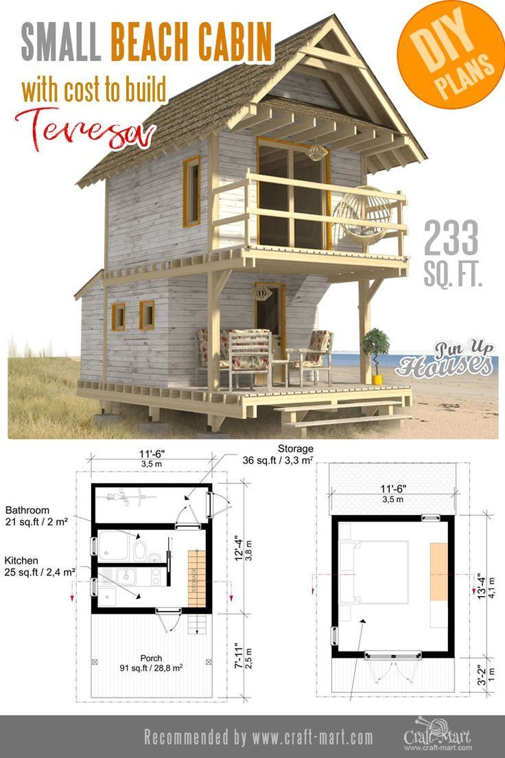 Awesome Small And Tiny Home Plans For Low Diy Budget Craft Mart Tiny House Plans House Plans Tiny House Cabin