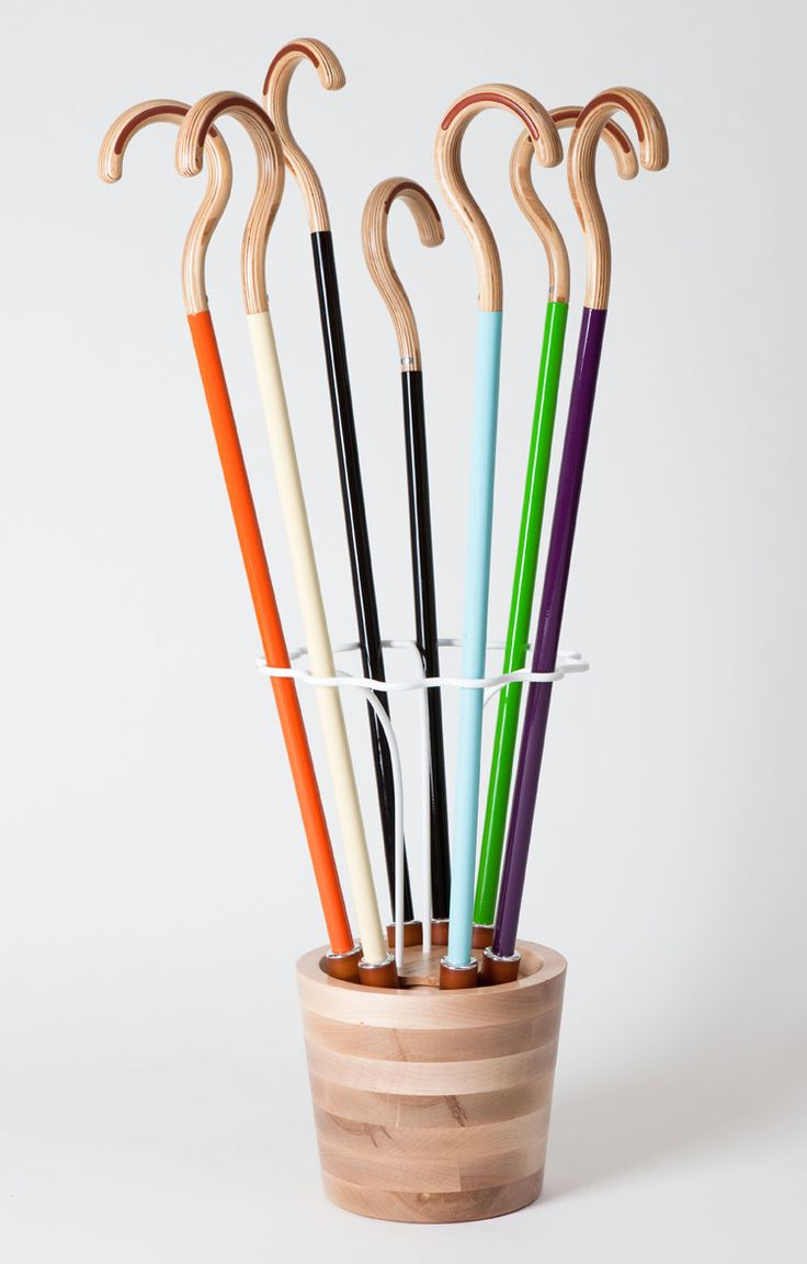 """Omhu, a modern take on a traditional cane, turns the practical tool into an eye-catching accessory. The first product from the NYC-based company's """"Aids For Daily Living"""" collection, the Omhu cane is inspired by the efficiency of Scandinavian furniture & the glossy aesthetic of high-end bicycles. via cool hunting"""