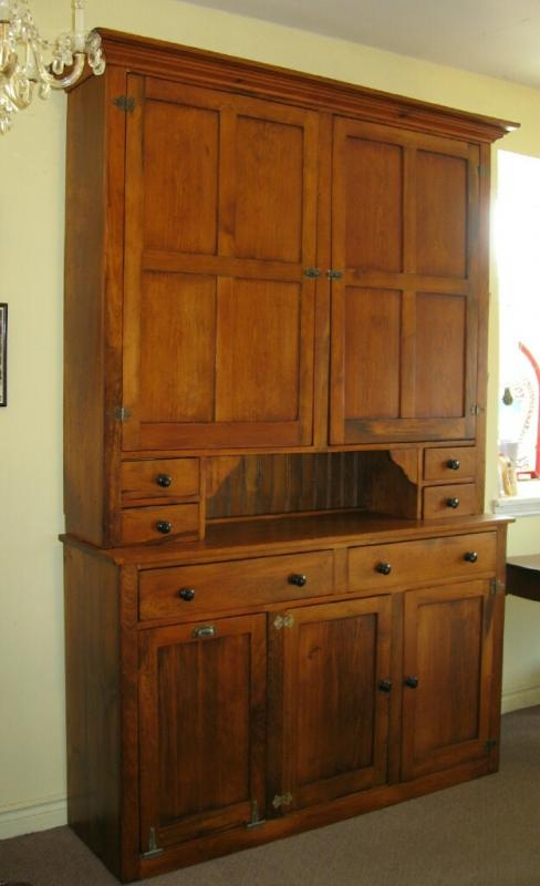 WHAT A GREAT ANTIQUE PINE PANTRY CUPBOARD. Landandross.com