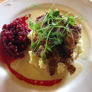 Fried herring with mashed potatoes, parsley butter, and lingonberries | 52 Delicious Swedish Meals You Need To Try Before You Die