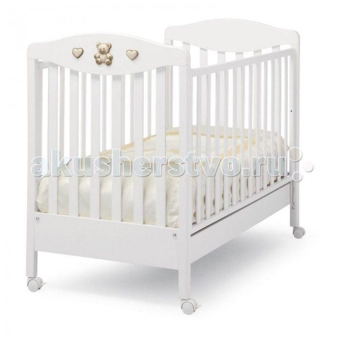 Детская кроватка Erbesi Tippy Jolie  Детская кроватка Erbesi Tippy Jolie  Сочетание изящества и комфорта, которое удивительным образом подойдет для Вашего малыша. Все составные части и компоненты кроватки, во избежание порезов, царапин и ссадин, не имеют острых углов. В кроватке используется ортопедическая сетка из деревянных планок, обеспечивающая правильное потоотделение. Большой ящик в основании кровати, оснащен металлическими направляющими с первоклассным скольжением и блокировкой во…