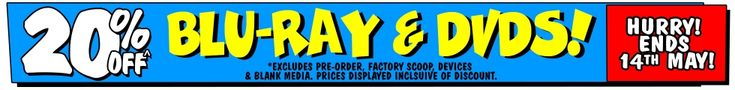 20% off Blu-Ray & DVDs @ JB Hi-Fi - http://sleekdeals.co.nz/deals/2017/5/20-off-blu-ray-amp-dvds-@-jb-hi-fi.aspx?nf=true&m=