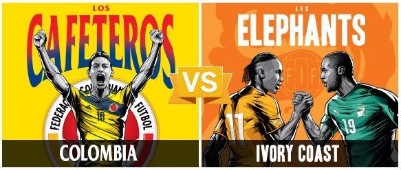 GRUPO C / #COL vs #CIV (2 - 1) / 19.06.14 / Estadio Nacional (Brasilia)