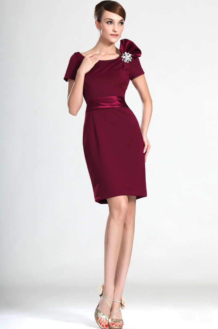 Graceful Short sleeves Mother of the Bride Dress