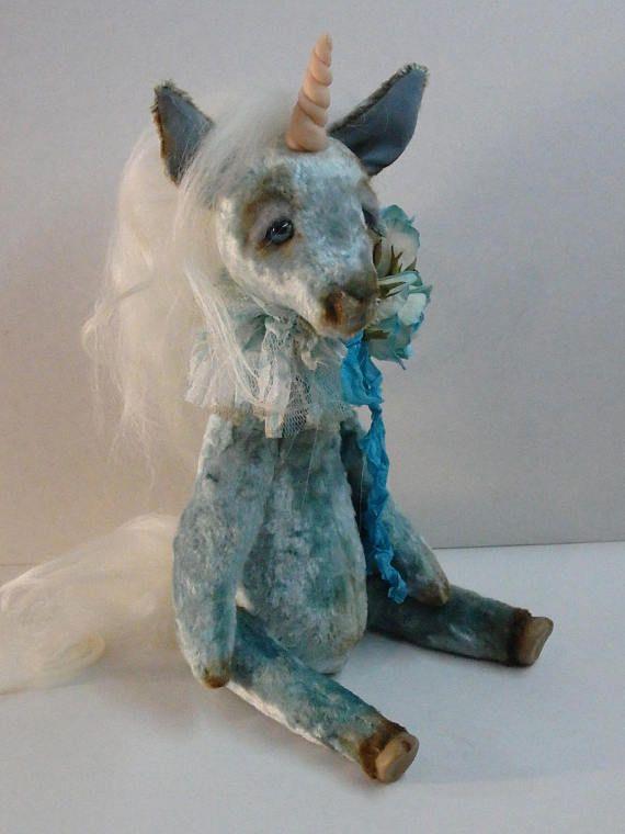 OOAK Unicorn Teddy Author's doll Unicorn Plush horse