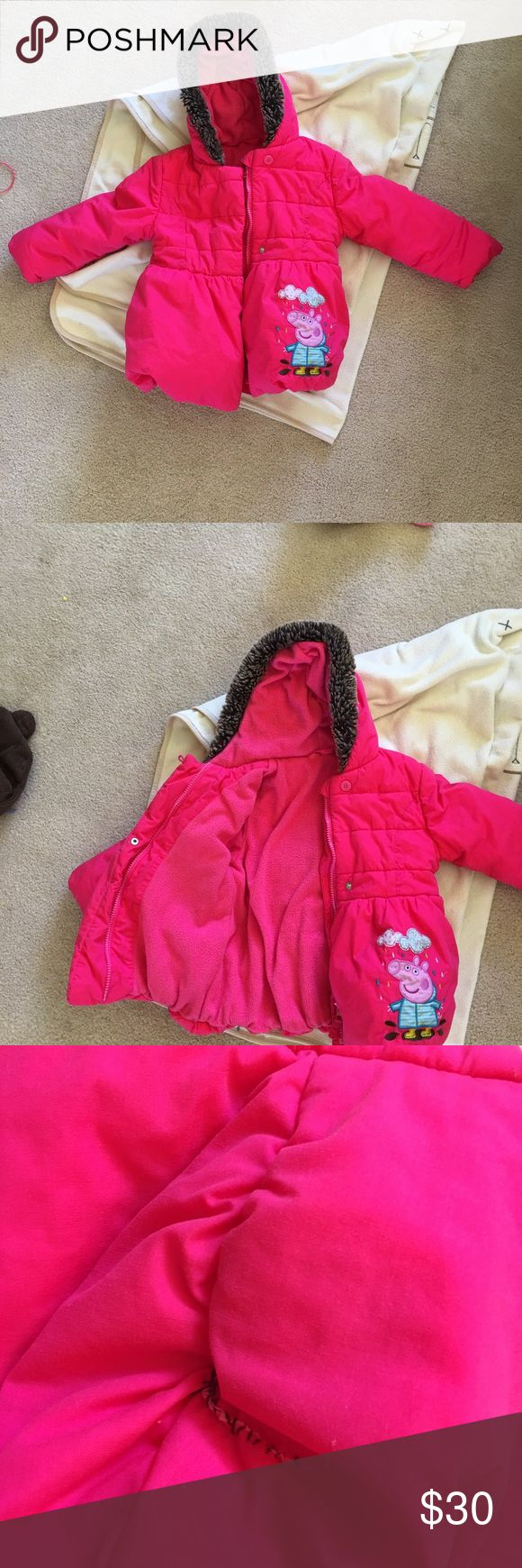 Peppa Pig Jacket Like new. Very warm, tiny tear in hood which I sew, see photo. Marks & Spencer Jackets & Coats Puffers