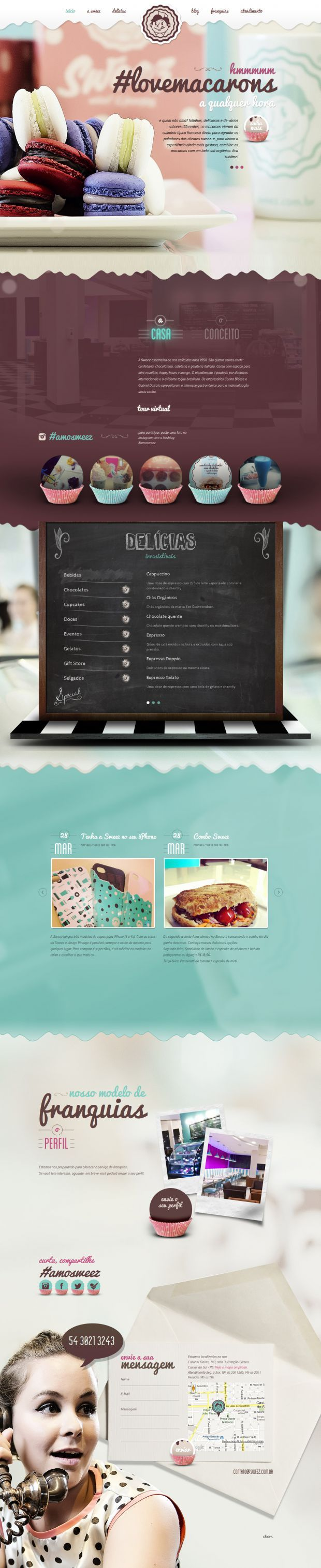 Sweez - Sweet and Freezing - Webdesign inspiration www.niceoneilike.com