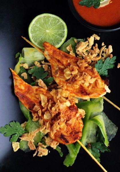 Satay z kurczaka <3 Błyskawiczne do zrobienia - idealne na dzisiejszy obiad! http://ostra-na-slodko.pl/2016/02/27/satay-z-kurczaka-w-sosie-curry-test-patelni-woll-szafir-indukcja/