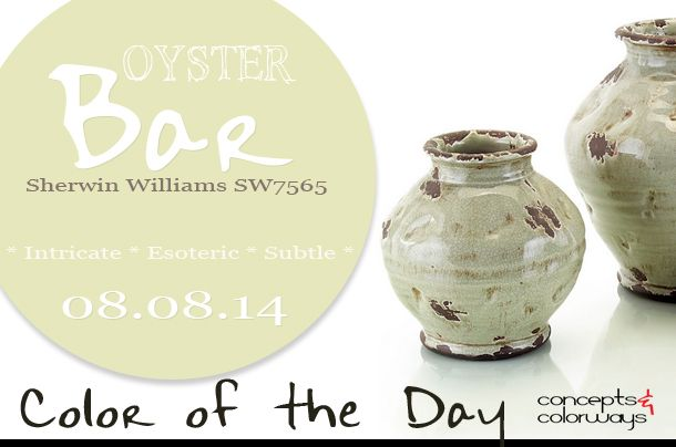 08 08 14 Color Of The Day Oyster Bar Sherwin Williams