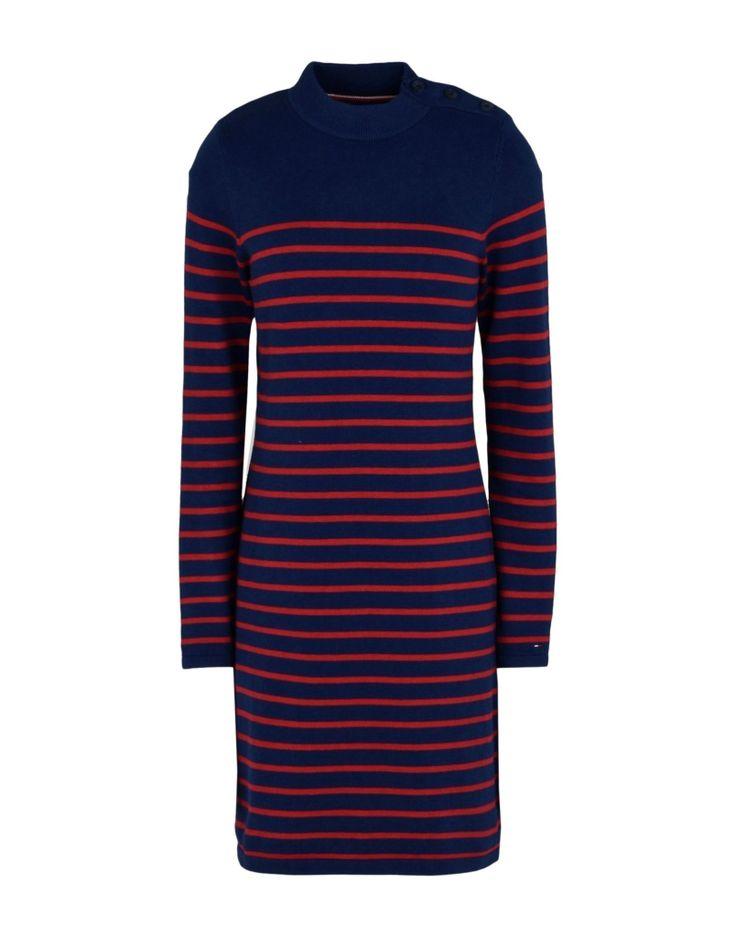 #TOMMY HILFIGER DENIM Damen Kurzes Kleid Farbe Blau Größe 3, 34791210DE-3
