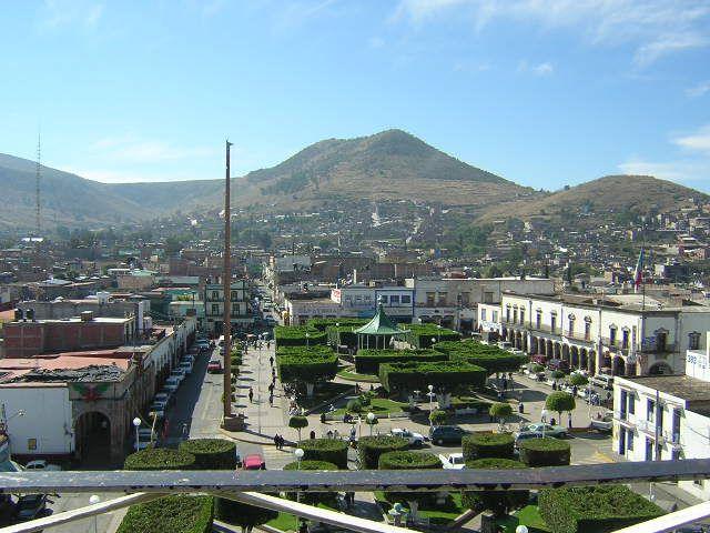 Puruándiro, Michoacán. Panorámica del Centro de la ciudad