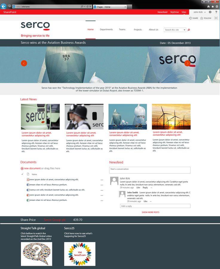 serco sharepoint design