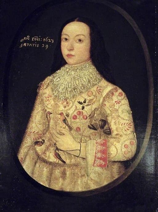 Amy Seymour by a follower of Robert Peake, 1623.