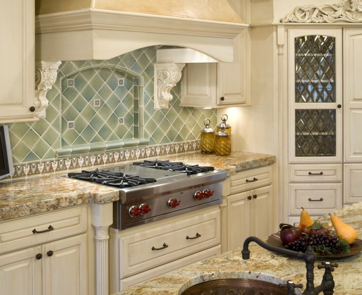 5. Tournesol… The Little Plus: the glazed subway tile backsplash with white grout — ties in with the hardwood flooring and the stools. And notice these sliding windows with white sills and panes. They give a good view of the outdoors and allow for natural light to stream in. And in the Spring — crisp …