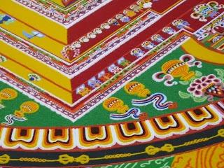 detail of tibetan Sand mandala