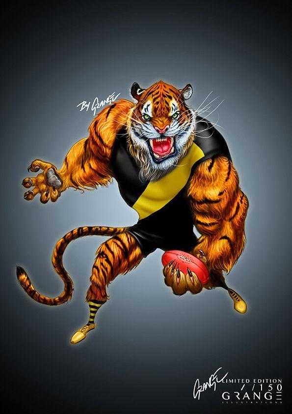 'The Furious Tiger' Print by Grange Wallis