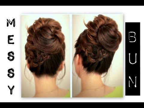 Best Big Messy Buns Ideas On Pinterest Braided Messy Buns - Big bun hairstyle youtube