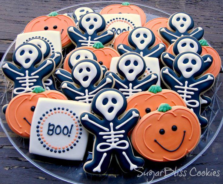 54 best Halloween images on Pinterest Halloween cookies, Cookies - halloween pumpkin cookies decorating