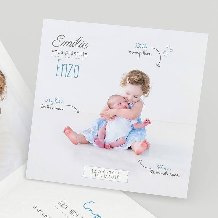 Célèbre Les 25 meilleures idées de la catégorie Faire parts de naissance  DO75