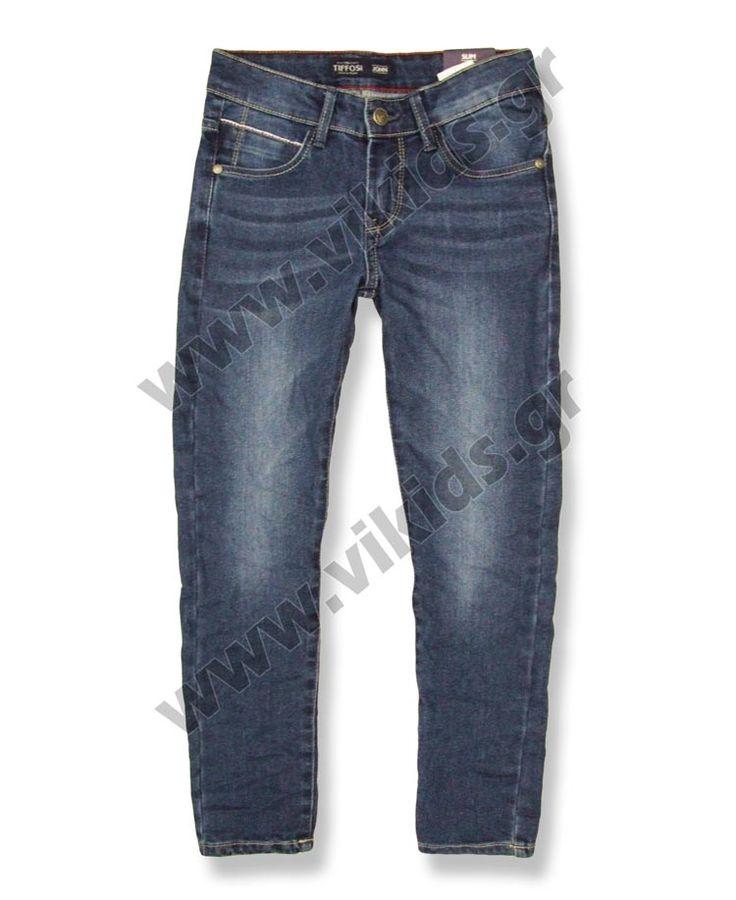 Τζην πεντάτσεπο παντελόνι από την TIFFOSI. Για αγόρια 7-14 ετών.