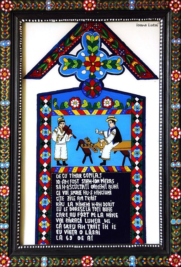 Cruce din Cimitirul Vesel - Icoane p sticla, Sapanta - Ioana Lutai - foto Cristina Nichitus Roncea