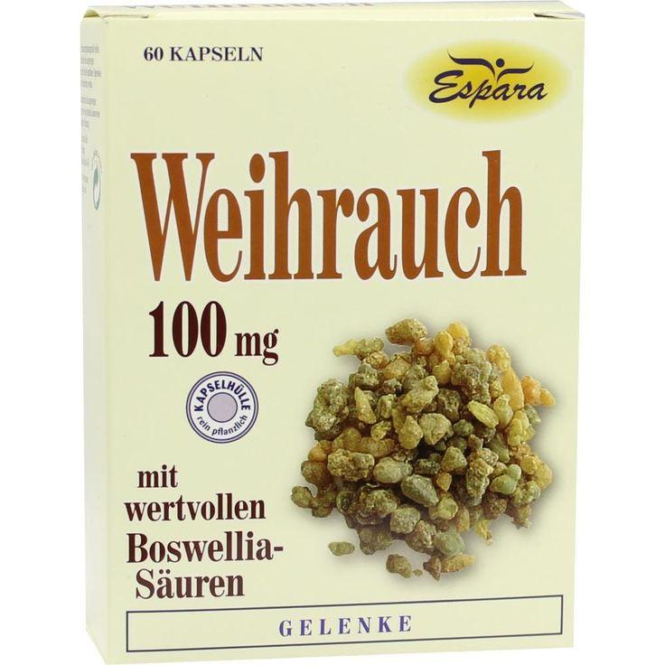 WEIHRAUCH KAPSELN:   Packungsinhalt: 60 St Kapseln PZN: 04467812 Hersteller: Espara GmbH Preis: 10,44 EUR inkl. 7 % MwSt. zzgl.…