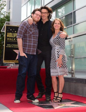 Rick Springfield with wife, Barbara, and son, Joshua (The Hollywood Walk Of Fame)