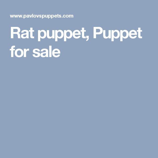 Rat puppet, Puppet for sale
