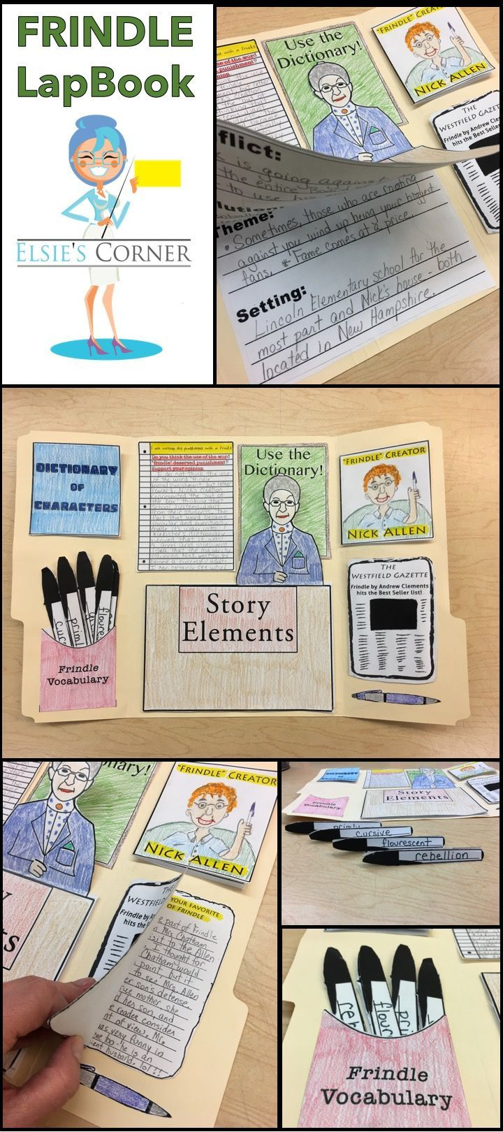 Interactive Lapbook that captures all of the major story elements of Frindle by Andrew Clements.  Great activity to wrap up your Frindle Unit of Study!