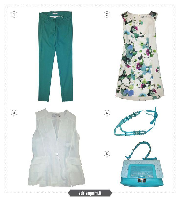 Preparati per l'estate! Fiori, tessuti leggeri, colori accesi ed accessori; ecco il look per la stagione più calda e solare dell'anno   1 Pantalone - Marella 2 Vestito - Marella 3 Camicia - i-Blues 4 Collana - Marella 5 Borsa - Marella  @marellaofficial @ibluesofficial  #pantaloni #camicia #vestito #borsa #collana #picoftheday #musthave #outfitoftheday #look #instafashion #newcollection #italianattitude #cool #ss15 #tagsforlikes #glam  www.adrianpam.it