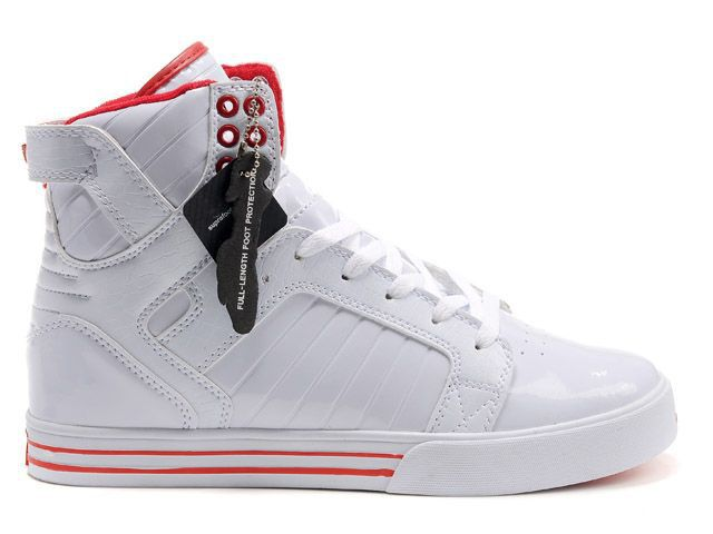 Supra Skytop Womens White Red Online Shop