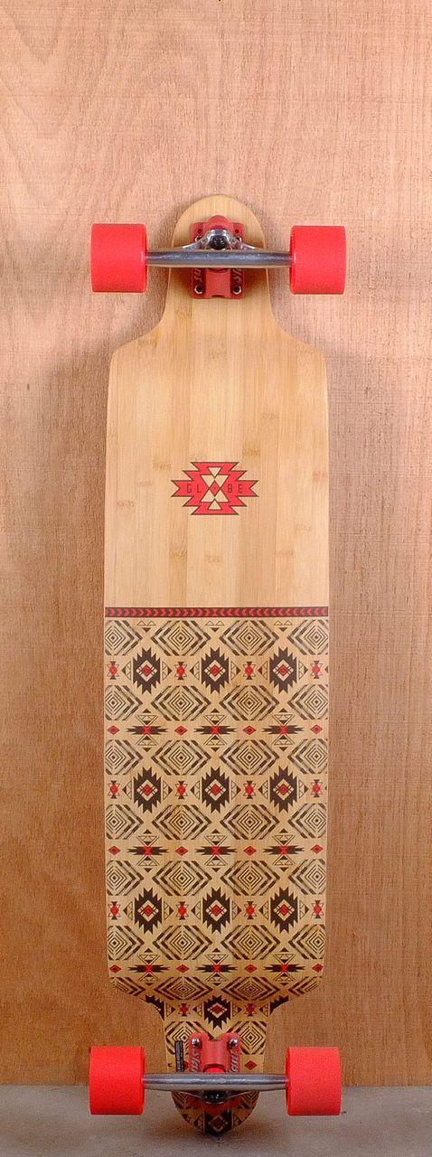 """Globe Prebuilt 41"""" Bannerstone Longboard Complete"""