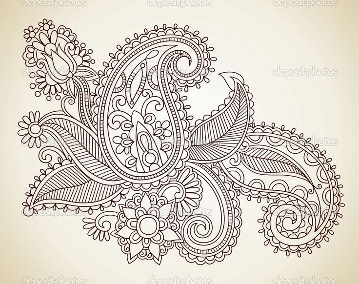 Paisley Flowers Henna Tattoo Design: 20 Best Images About Tattoos On Pinterest