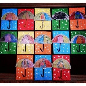 paper plate umbrella craft