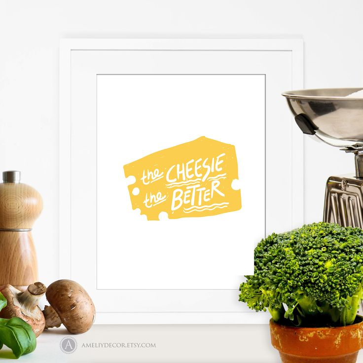 https://www.etsy.com/listing/496322937/printable-kitchen-print-cheese-print?ref=listings_manager_grid #Printable #Kitchen #Poster #Food #Print