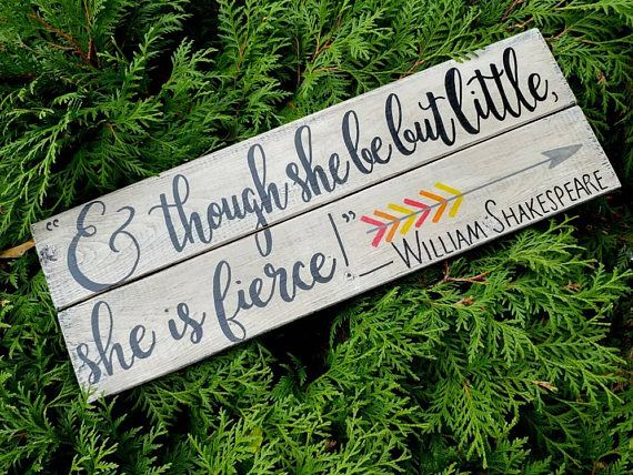 Check out this item in my Etsy shop https://www.etsy.com/ca/listing/570157729/and-though-she-be-but-little-she-is