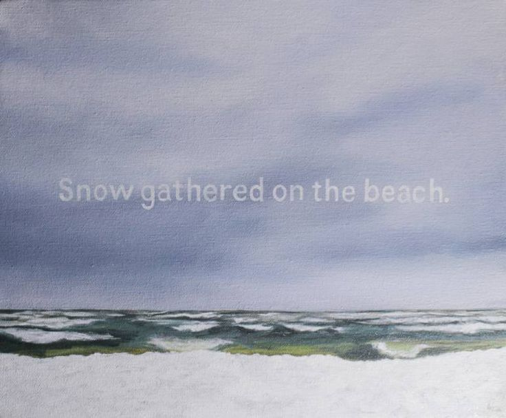 "Saatchi Art Artist Elena Duff; Painting, ""Snow gathered on the beach"" #art"